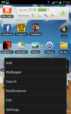 settings ics Samsung galaxy note