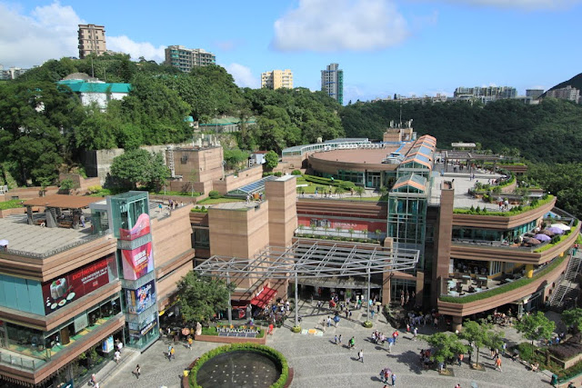 The Peak Galleria with shopping paradise at the top hill of The Peak Tram in Hong Kong