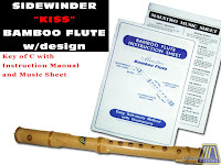 SPECIAL SIDEWINDER BAMBOO FLUTE KEY OF C