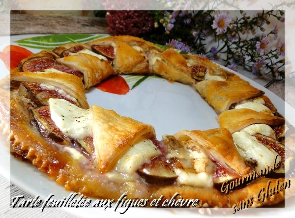 Tarte feuilletée aux figues et chèvre, sans gluten