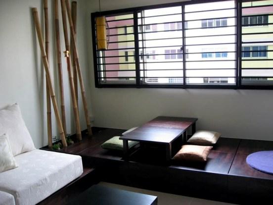 pedana in legno per soggiorno
