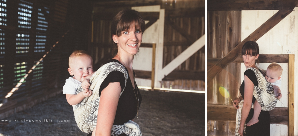 New Jersey Babywearing Photography