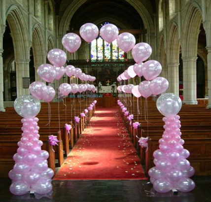 The wedding collections wedding table balloons decorations for Balloon decoration ideas for weddings