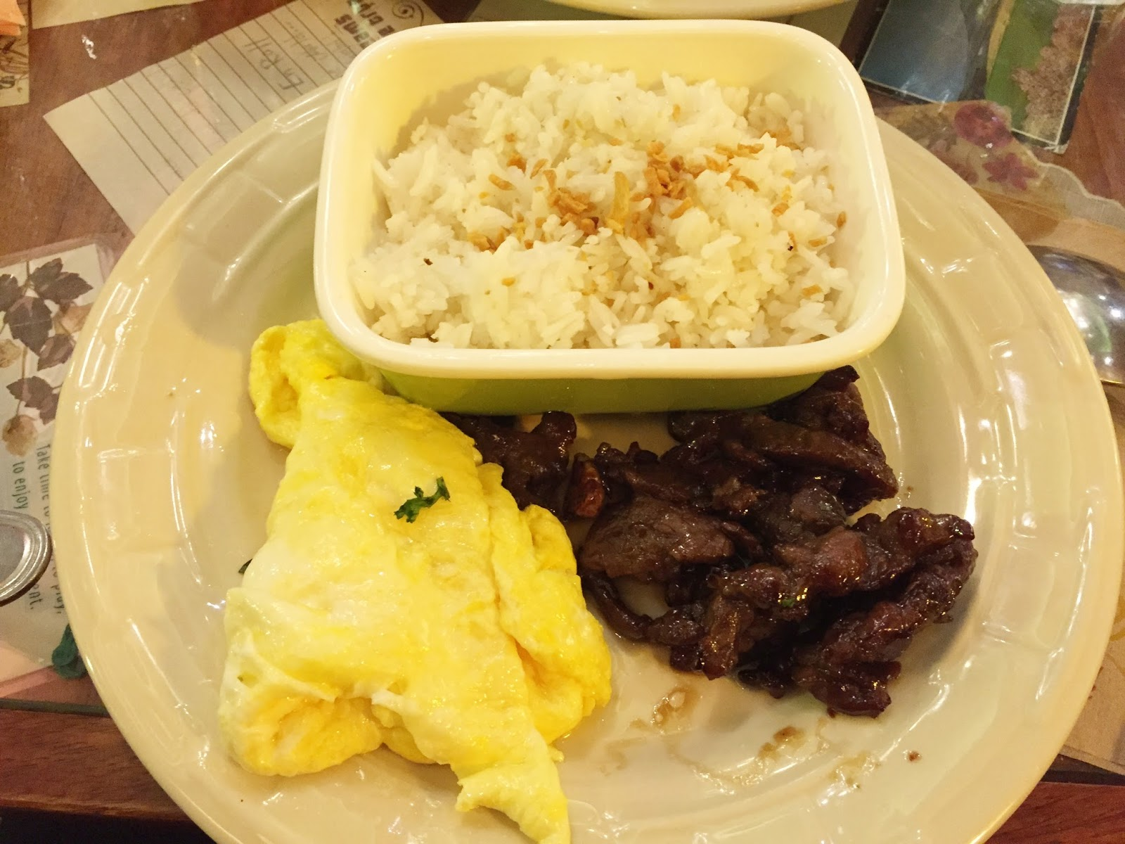 cafe mary grace beef tapa review