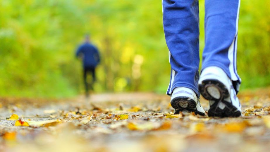caminhar até a academia