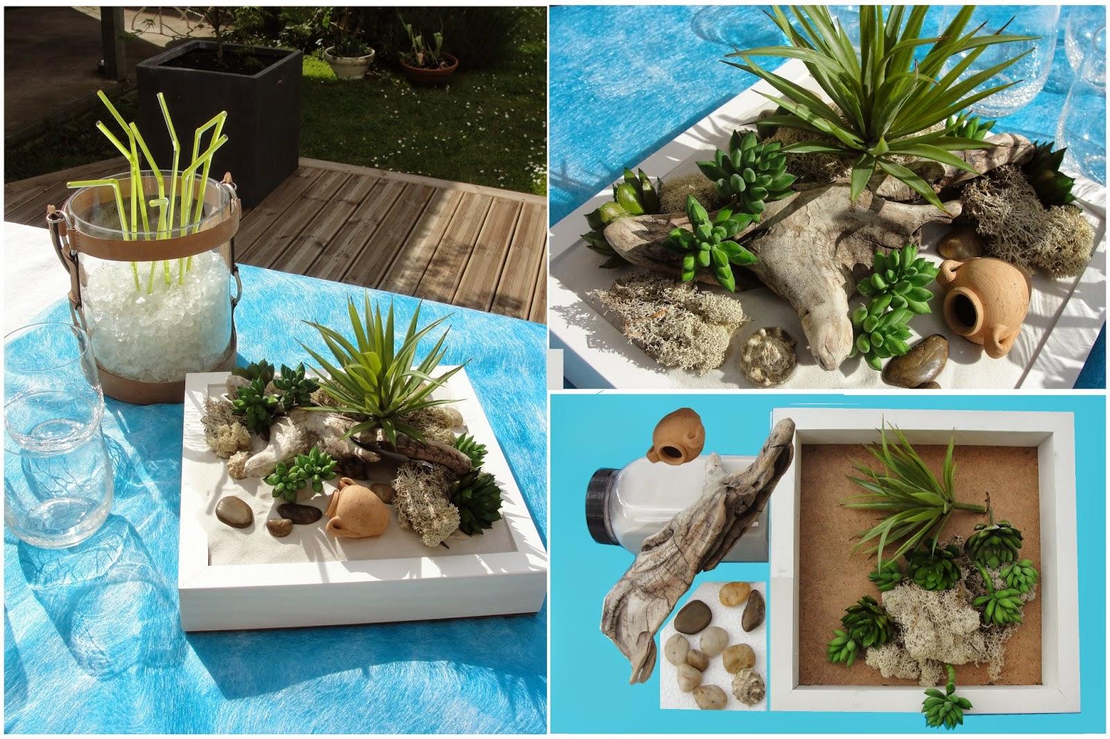 Floreever centre de table plateau de mini plantes grasses - Mini plante grasse ...