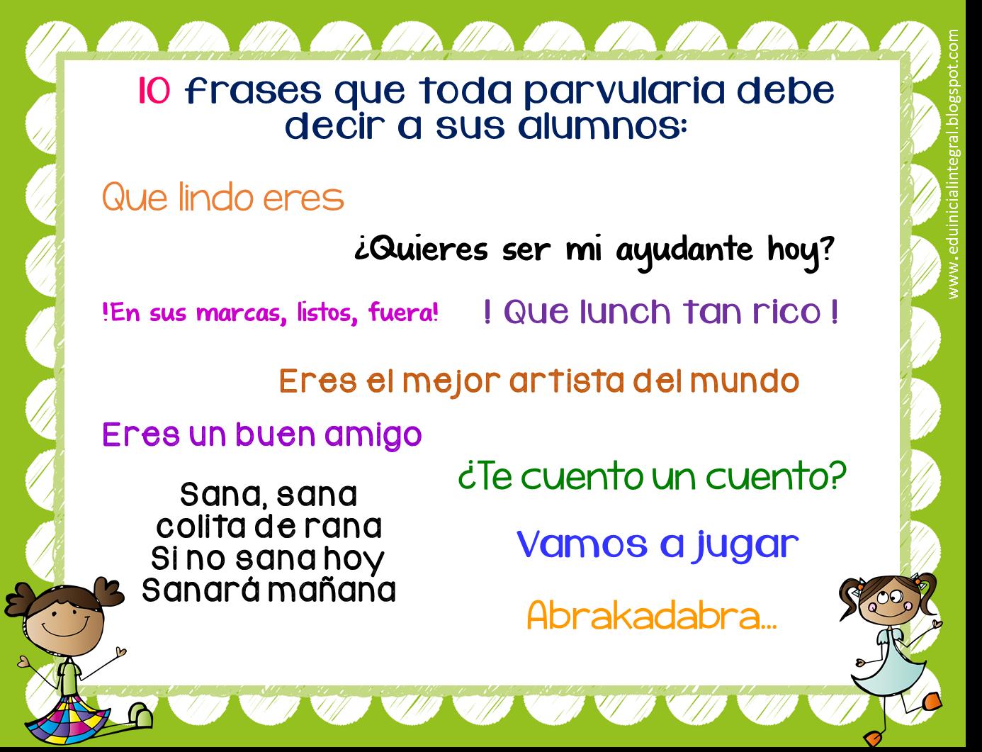 Frases De Educacion Parvularia | MEJOR CONJUNTO DE FRASES