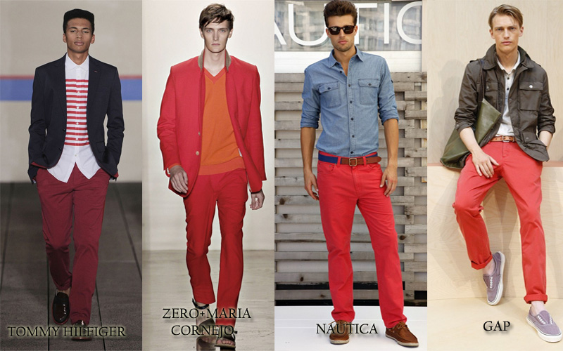 Mens Red Chinos Photo Album - Kianes