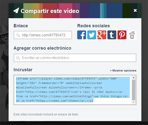 video html personalizar