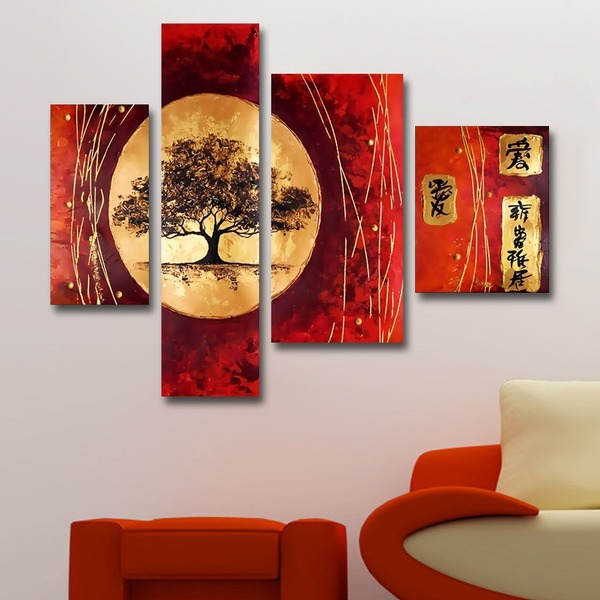 Asian Tree Hand Painted Wall Art @overstock.com