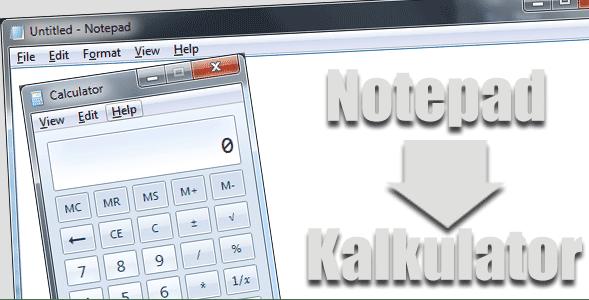 Cara Menggunakan Notepad Untuk Membuat Kalkulator