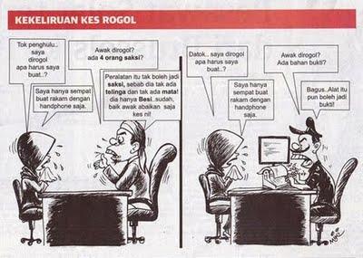 pelukis kartun tidak faham mengenai konsep hukum hudud.