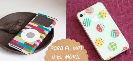 proyecto washi tape MP3 y móvil