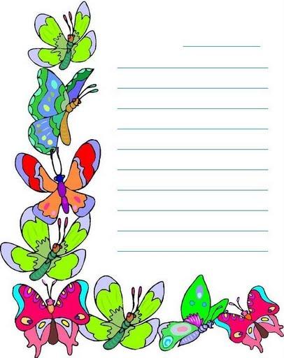 Hoja decoradas para escribir - Imagui