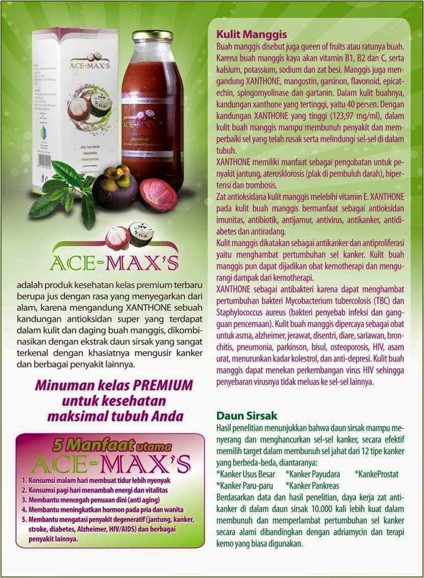 Ace Maxs Murah Produk Herbal Kulit Manggis