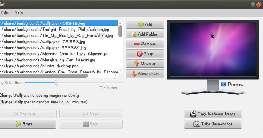 cara mengganti wallpaper otomatis di ubuntu gt
