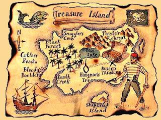 Карта остров сокровищ