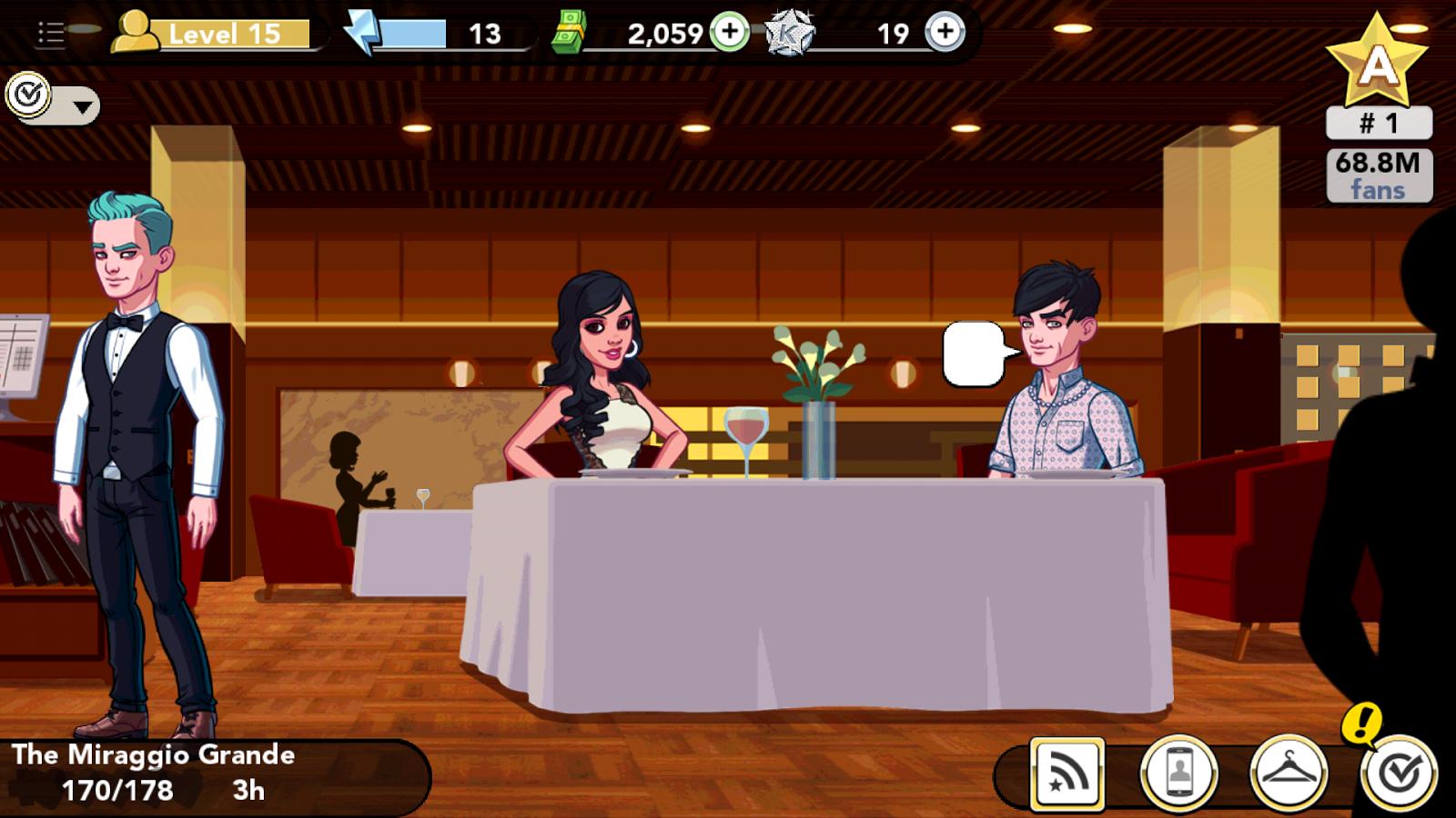 Kim Kardashian: Hollywood game - date at Miraggio Grande in Las Vegas
