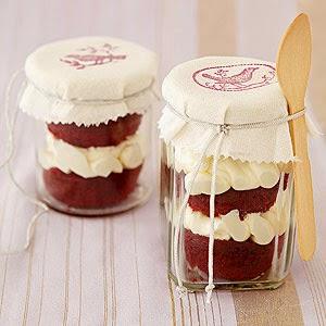 The Rebel Sweetheart.: Foodie Goodie | Red Velvet Cupcakes in a Jar.