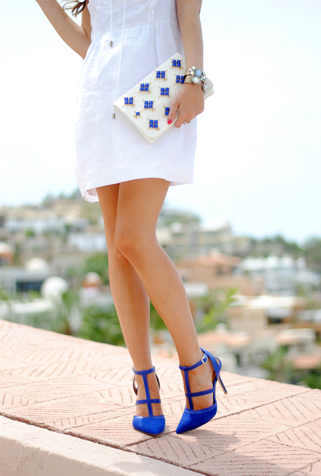 Cobalt blue pumps
