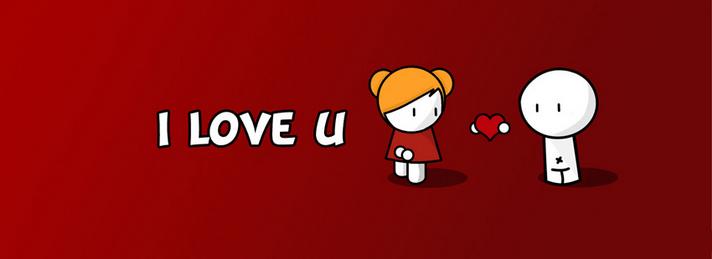 Capa eu te amo para facebook