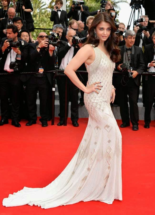 Aishwarya Rai in Roberto Cavalli at Cannes 2014