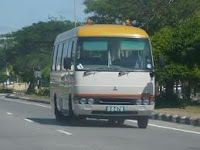 Bus in Lumut Town brunei