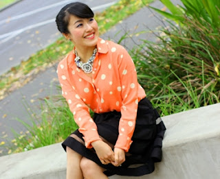 Tangerine dots with stripes