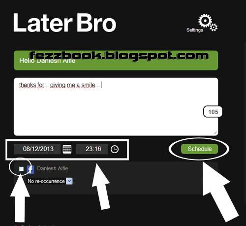 atas bacaannya Cara Menjadwal Update Status Facebook Secara Otomatis