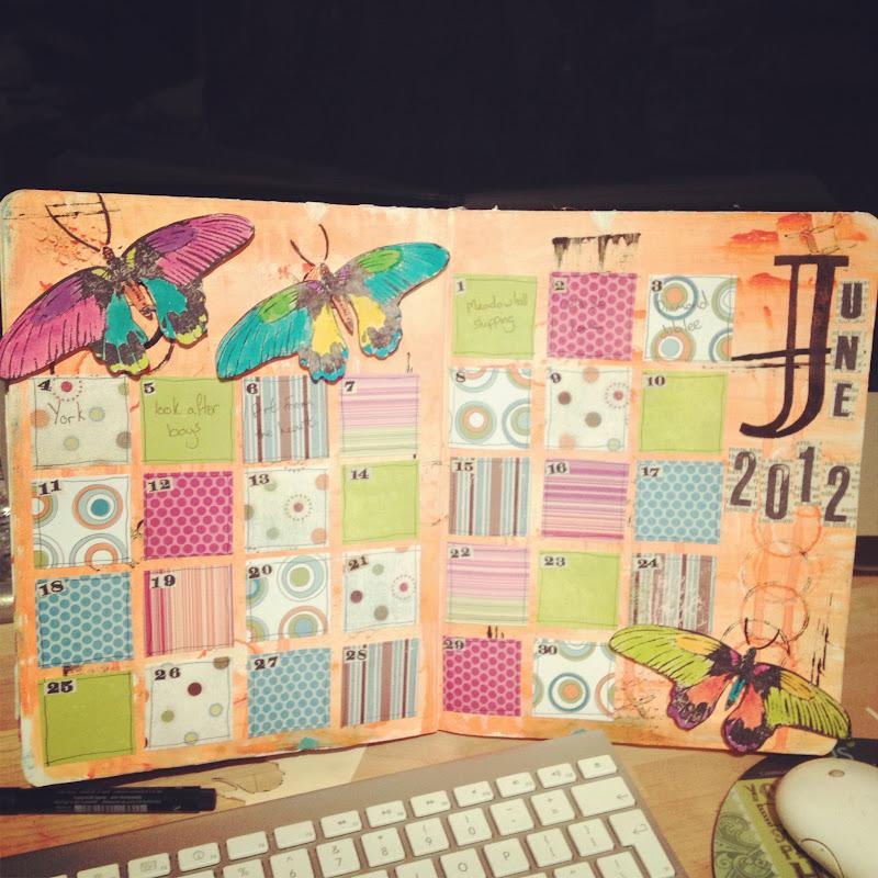 Arty Heart: Art Journal Calendar