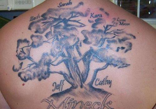 tribal tattoos designs family tree tattoos ideas. Black Bedroom Furniture Sets. Home Design Ideas