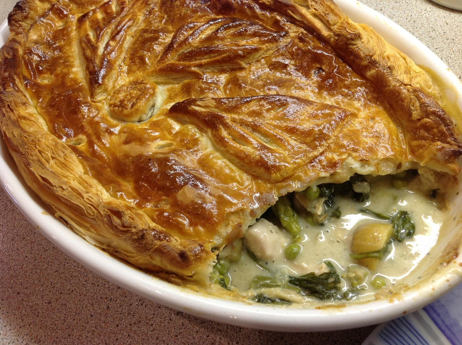 This Muslim Girl Bakes: Asparagus and Chicken Summer Pie