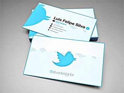 Best Business Cards example For Websites blog developer twitter social network micro blogging