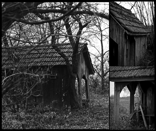 eine verlassene Hütte