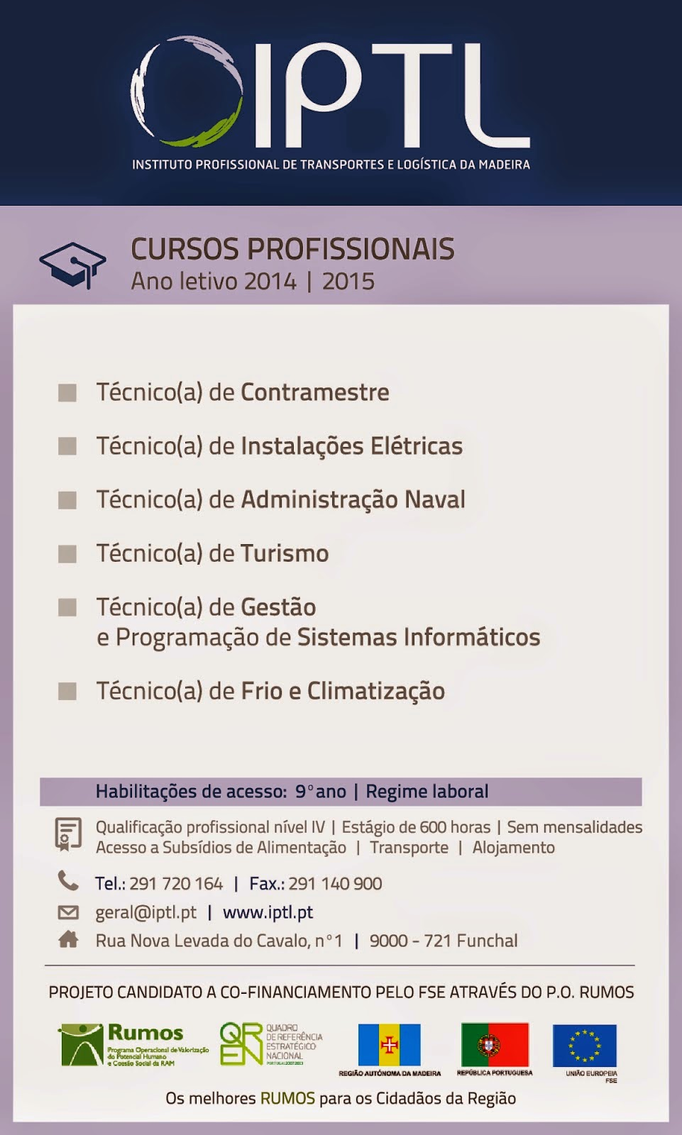 cursos profissionais no Funchal