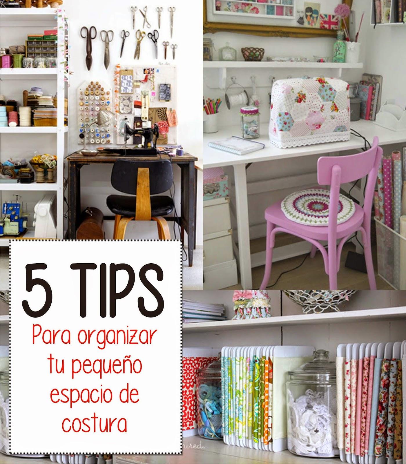 Casa bes 5 tips para organizar tu espacio de costura for Organizar habitacion