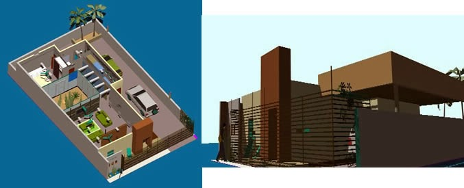 Engineering et architecture maison en 3d Plan de maison avec autocad