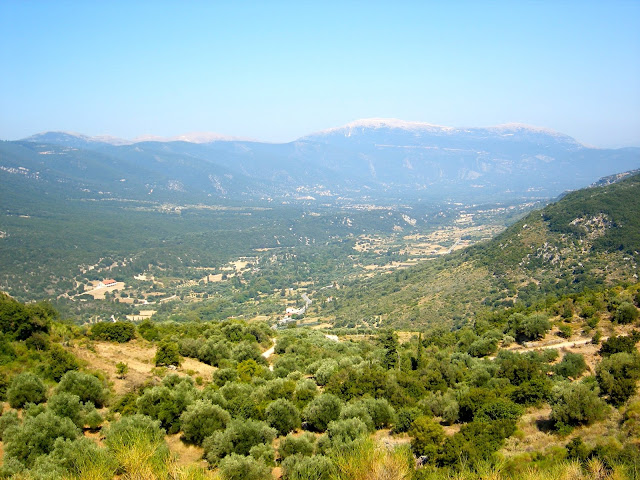 Mountains on the island of Kefalonia, Greece