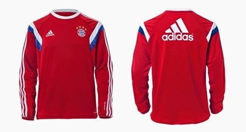 Sweater Training Top Bayern Munchen Home Red Official 2014 -2015