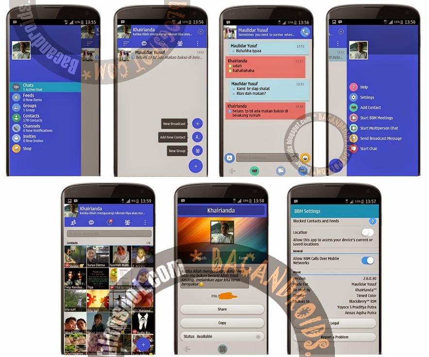 Download Update BBM Mod Floating Menu Timed Color  Apk