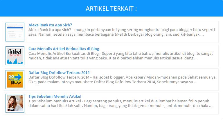 Cara Membuat Artikel Terkait Dengan Thumbnail Di Blog ...