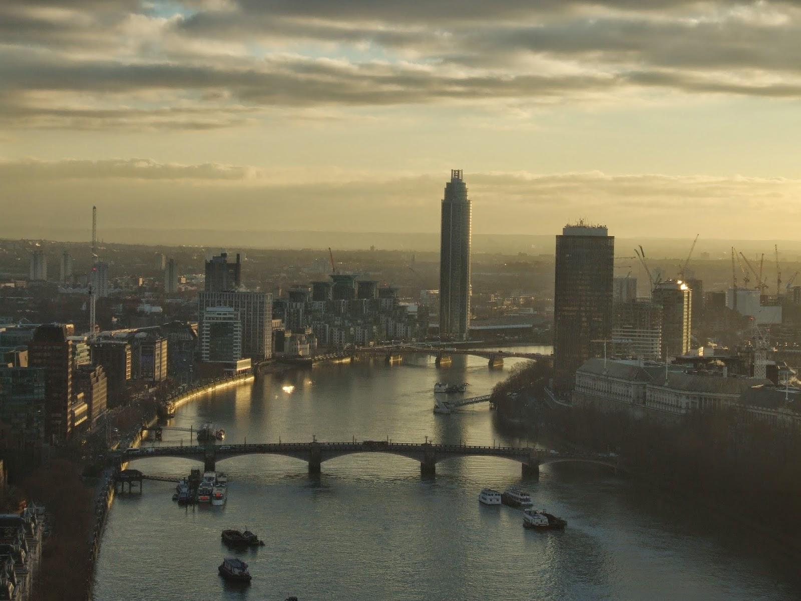 Widok z London Eye.