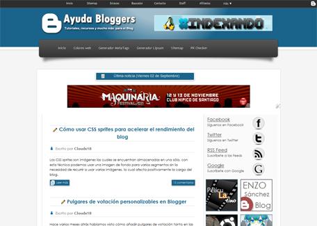 Plantilla para Blogger: Ayuda Bloggers 3 [Actualizada 26 de Mayo 2013]