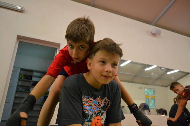 Akademia Zwycięzcy - najmłodsi sportowcy podczas rozgrzewki!