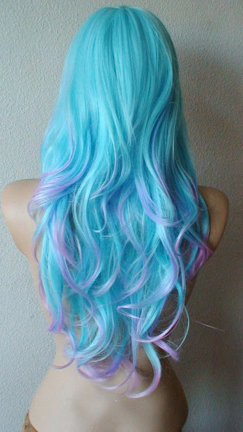 colorful tips - dip dyed hair