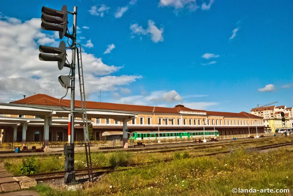Fotografía de la estación de Sibiu.
