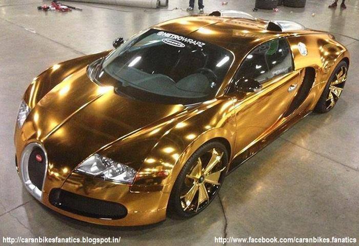 car bike fanatics gold plated bugatti veyron. Black Bedroom Furniture Sets. Home Design Ideas