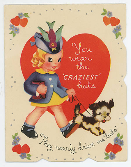 Vintage Valentine Cards with Funny Messages  vintage everyday