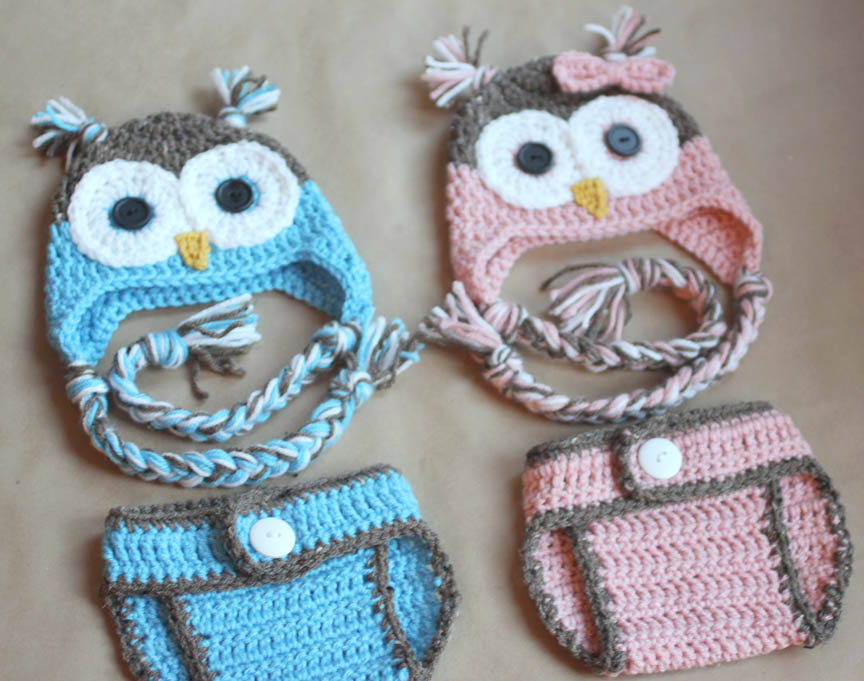 Free Crochet Pattern For Child s Owl Hat : Repeat Crafter Me: Gender Reveal Party