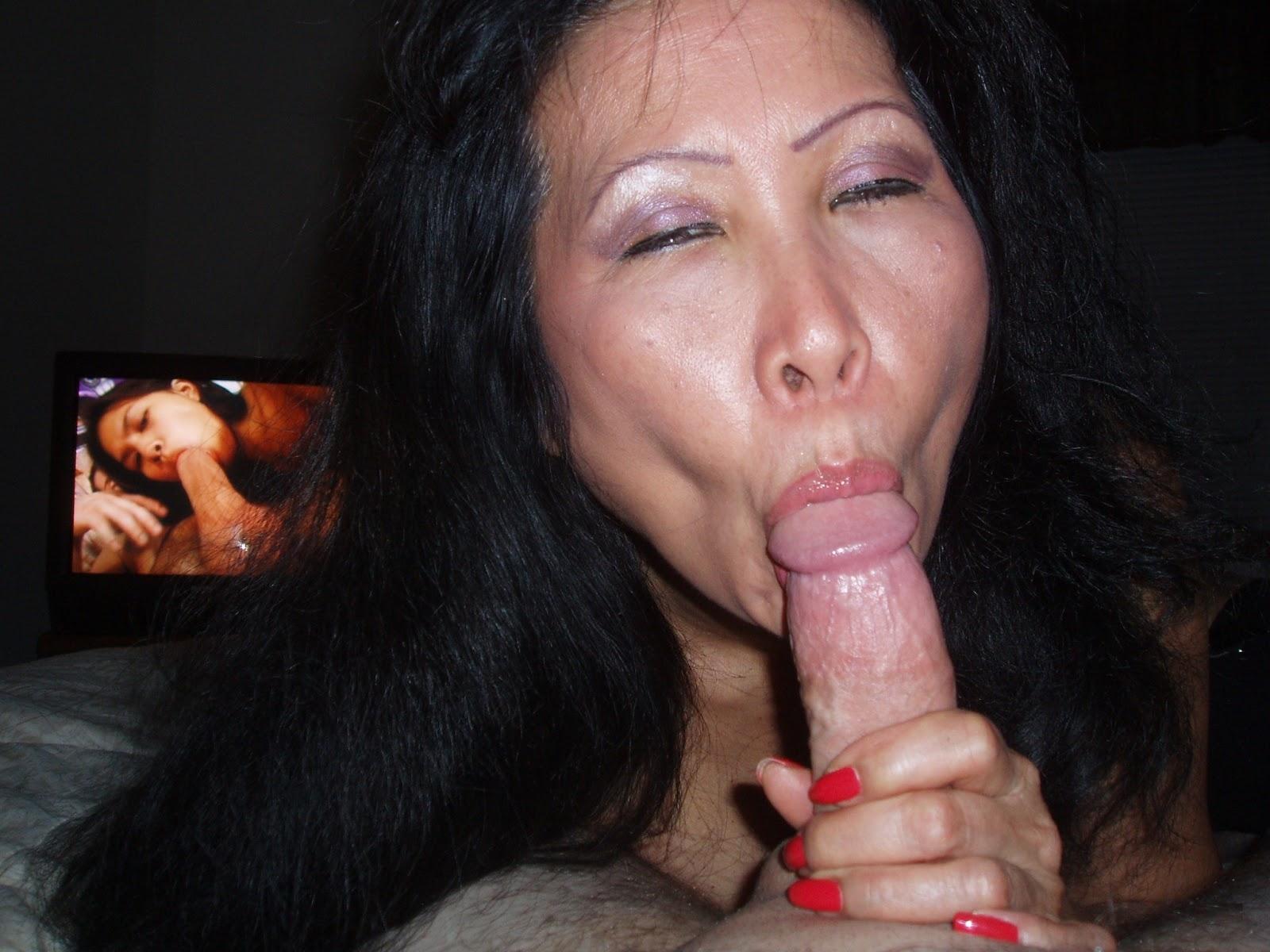 amateur asian chupando